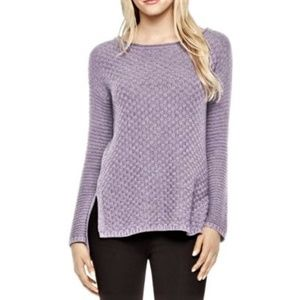 VINCE CAMUTO Textured Ribbed Knit Pullover Sweater